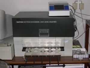Detector proporcional de flujo de gas de bajo fondo de 10 canales